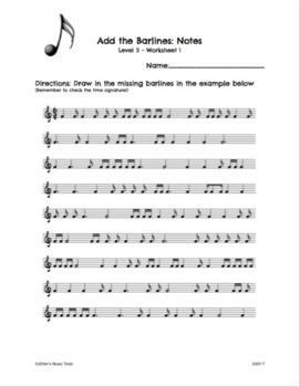 Rhythm Worksheets Level 5
