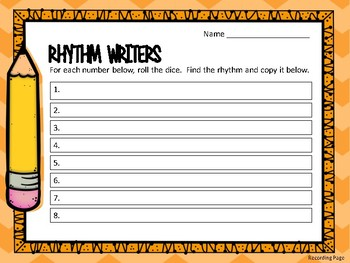 Rhythm Writers/Level 1