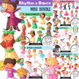 Rhythm and Dance Clip Art MINI BUNDLE (COMPLETE)