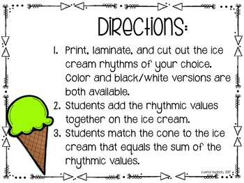Rhythm and Math Ice Cream Match