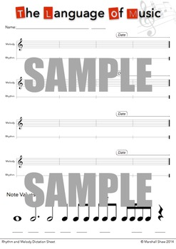 Rhythm and Melody Dictation Sheet