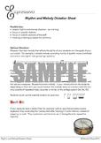 Rhythm and Melody Dictation Sheet