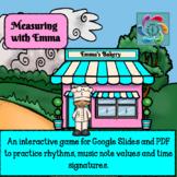 Rhythm Note Value Interactive Music Game-Google/PDF-Measuring w/Emma