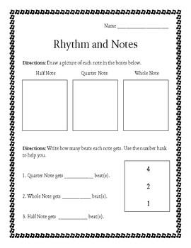Rhythm and Notes Worksheet