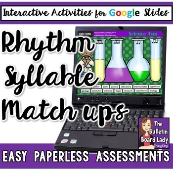 Rhythm and Syllable Match Up for Google Slides