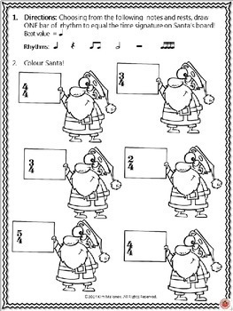 Rhythm and Time Signatures with a Santa Theme