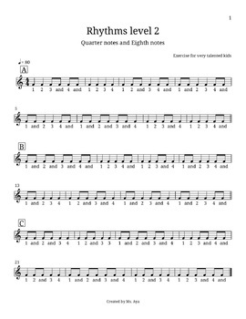 Rhythm drill exercises for kids