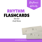 Rhythm flashcards {Half Note}