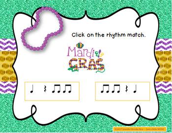 Rhythm in the Street -- A Mardi Gras Aural Rhythm Recognition Game {rest}