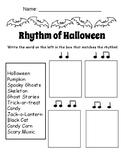 Rhythm of Halloween Worksheet