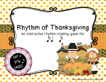 Rhythm of Thanksgiving - Interactive Reading Practice Game {syncopa}