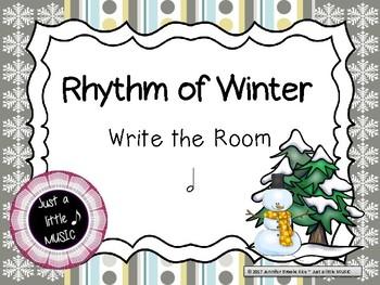 """Rhythm of Winter -- Rhythm Reading """"Write the Room"""" {ta-ah}"""
