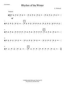 Rhythm of the Winter – Very Easy Beginning Band arrangement