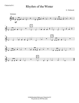 Rhythm of the Winter – Very Easy Beginning Band arrangement