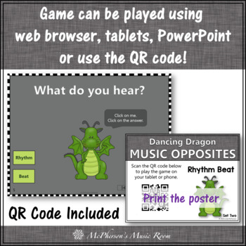 Rhythm or Beat - Interactive Music Game + Assessment (dragon)