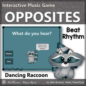 Rhythm or Beat Interactive Music Game (raccoon)