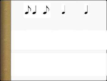 Rhythm patterns ta, ti-ti, tikatika, rest, too, syn-CO-pa
