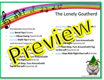 "Rhythm/Lummi Stick Activity: ""The Lonely Goatherd"" G3-5 from The Sound of Music"