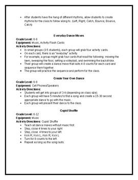 Rhythmic Activities for Physical Education (K-12)
