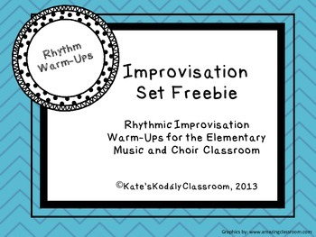 Rhythmic Improvisation Warm-Ups Freebie