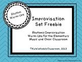 Rhythmic Improvisation Warm-Ups Freebie