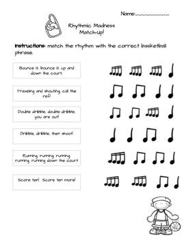 Rhythmic Madness Worksheets
