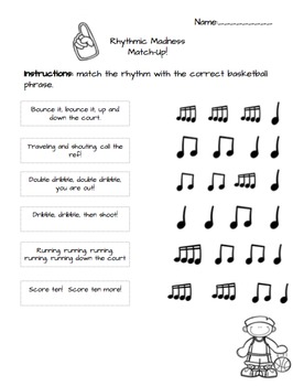 Rhythmic Madness Worksheets