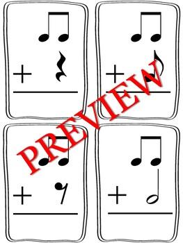 Rhythmic Math Flash Cards