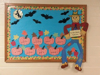 Rhythmic Pumpkin Patch Bulletin Board