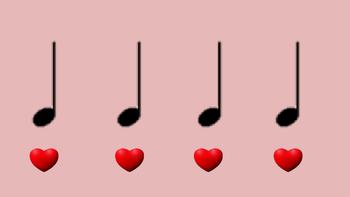 Rhythmic Reading Drill with Flashing Hearts Basic Set