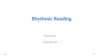 Rhythmic Reading Drill with Flashing Hearts Expanded Set