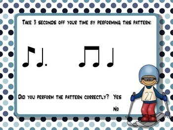 Rhythmic Winter Games for the Music Room: ti-tom
