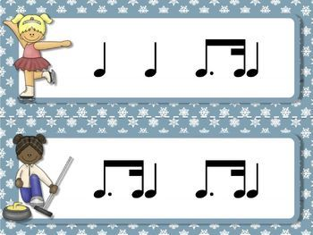 Rhythmic Winter Games for the Music Room: tim-ka