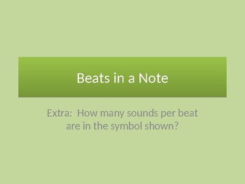 Rhythms: Beats in the Rhythm and Sounds in a Beat