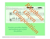 Rhythms Given Elementary Music Composition Activity