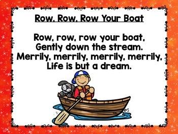 Rhythms & Rhymes: Row, Row, Row Your Boat