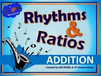 Rhythms and Ratios Additon: STEAM Flashcards for Fractions