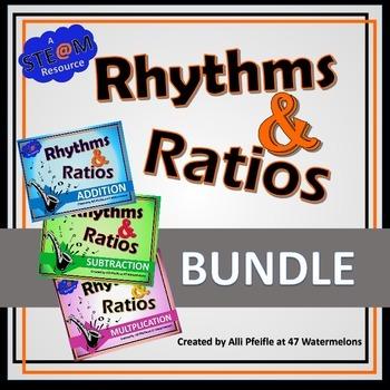 Rhythms and Ratios Bundle: STEAM Flashcards for Fractions