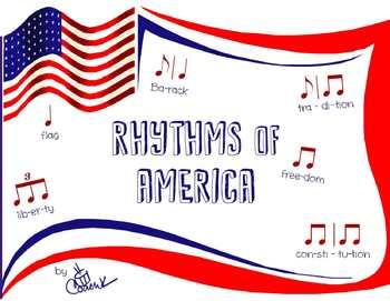 Rhythms of America - Fun Rhythm Worksheet