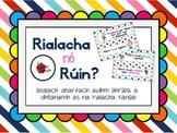 Rialacha nó Rúin Ranga (as Gaeilge) // Classroom Rules or Resolutions (in Irish)