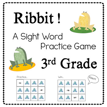 Ribbit! A Sight Word Game 3RD GRADE