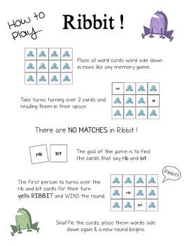 Ribbit! A Sight Word Game PRE PRIMER