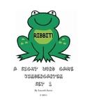 Ribbit! Sight Word Game Kindergarten Set #1