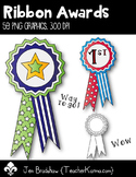 Ribbon Awards Clip Art ~ Commercial Use OK ~ Stars ~ PE