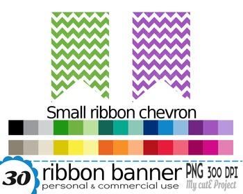 Ribbon Banner Chevron | Clipart | 30 png files | Scrapbooking Clip art | CA26