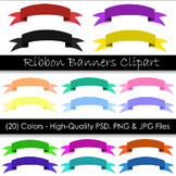 Ribbon Banner Clip Art - Digital Clip Art Banners