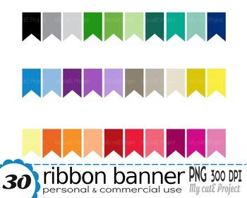 Ribbon Banner   Clipart   30 png files   Scrapbooking Clip art   CA22