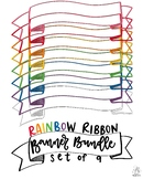 Ribbon Banner Rainbow Bundle of 9