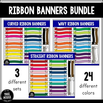 Ribbon Banners Clip Art/Graphics Bundle