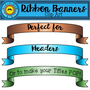 Ribbon Banners Clip Art